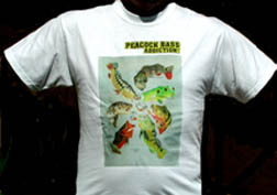 Peacock Bass T Shirt - Addictions